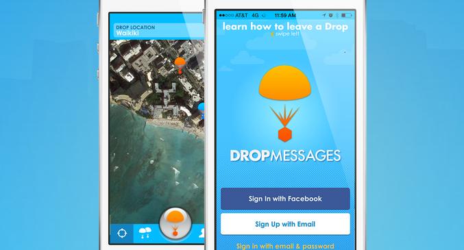 Drop, aplicación de mensajería basada en tu ubicación