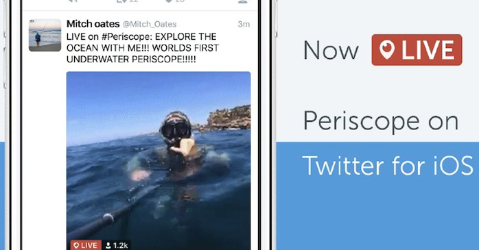 Vídeos de Periscope ya se reproducen en Twitter