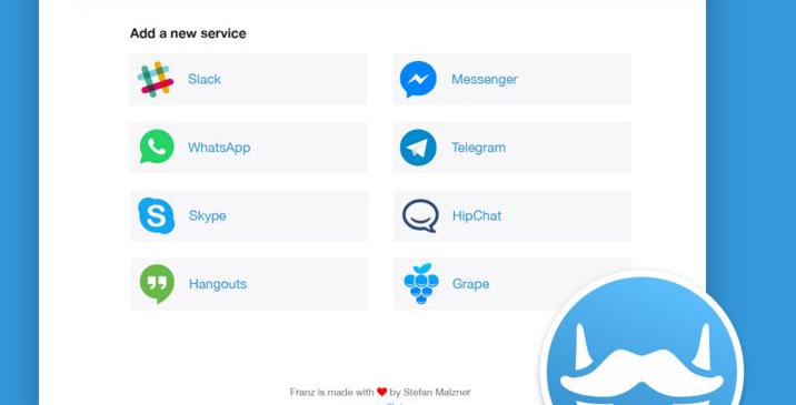 Franz la app que une las aplicaciones de mensajería