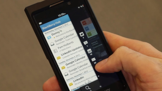 ¿Samsung tiene algo en común con BlackBerry Hub?