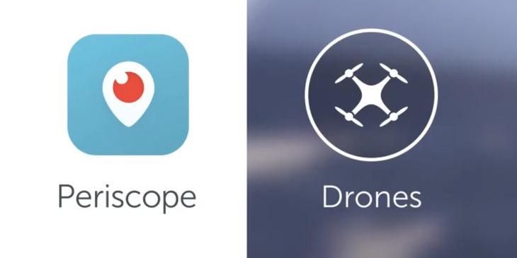 Ya puedes transmitir en Periscope desde un dron