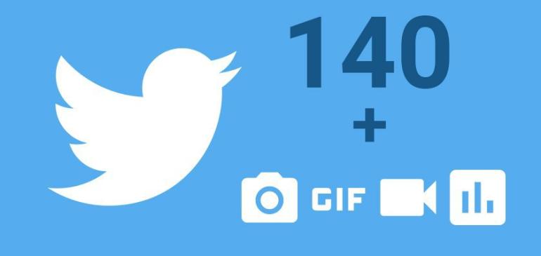 Twitter no contará fotos, enlaces y GIFs en los 140 caracteres