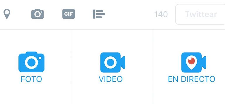 Twitter añade botón de Periscope en su aplicación para Android e iOS