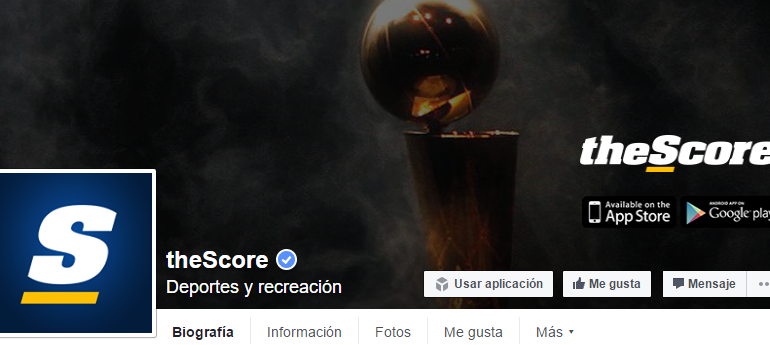 """theScore bot"" el chatbot deportivo de Facebook Messenger"