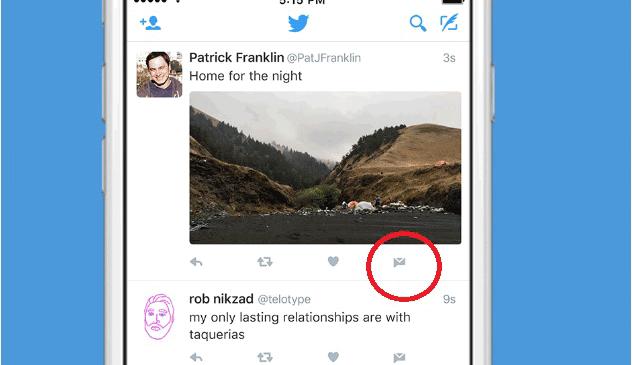 Twitter presenta botón para envío de mensajes directos desde la web