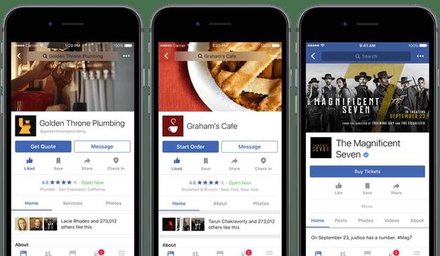 ¿Comprar comida o entradas por Facebook?