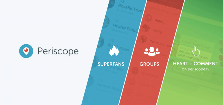 Periscope agrega tres nuevas características