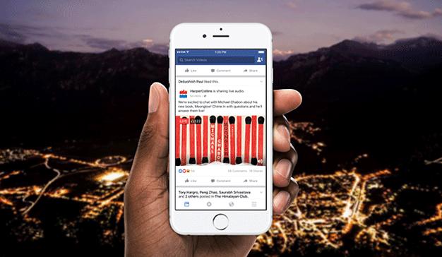 Facebook hace live audio