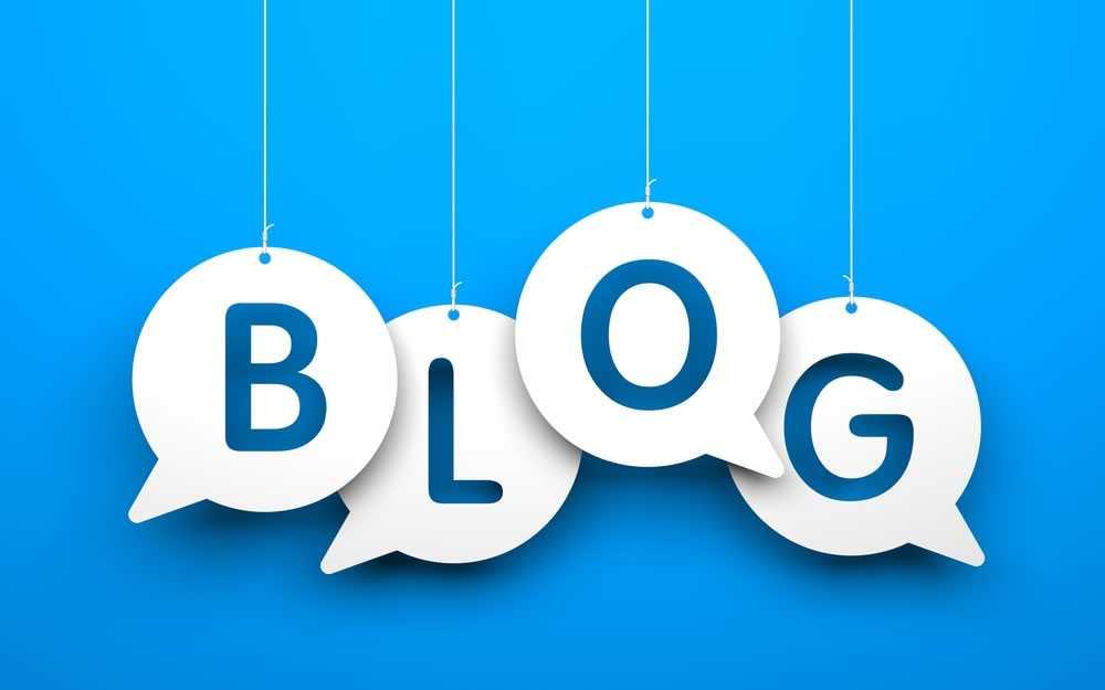 blog sitio web que incluye contenidos